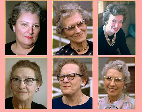 A composite of my Aunts': Dorothy, Gretchen, Peggy, Marie, and Adah, and Grandma Minnie